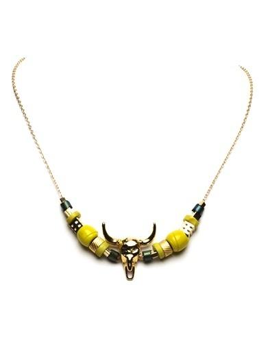 Amulette Jewel Kolye Sarı